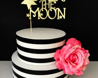 Over The Moon Cake toppers- cake toppers