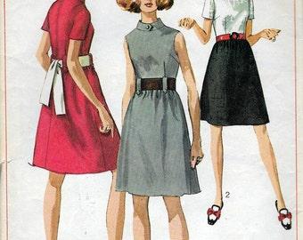 "Vintage 1969 Simplicity 7984 Mod Dress Sewing Pattern Size 14 Bust 36"" UNCUT"