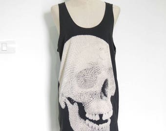 Diamond Skull shirt Skull tshirt skull shirt skeleton shirt women graphic tees tumblr clothes slogan tank cool top unisex tank top size M