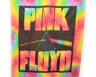 "Pink Floyd Dark Side of the Moon Tapestry Tie Dye Band Large 45"" X 40"""