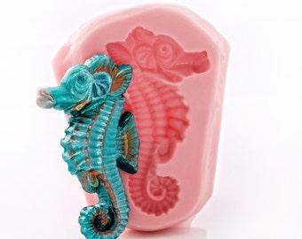 Seahorse Silicone Mold Creates a Beautiful Sea Pony  - Food Safe Fondant Chocolate Candy Mold Jewelry Resin Metal Clay Fimo Mold  (898)