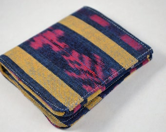 Red/Navy Woven Simple Bifold Wallet