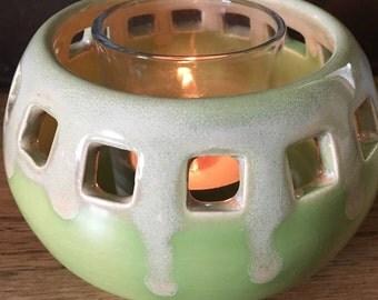 Candle Holder, Votive Holder, Pottery Candle Holder, Ceramic Candle Holder, Housewarming Gift, Gift for Her, Summer Decor, Porch Decor