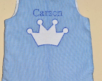 Custom made Personalized Monogrammed Birthday Prince, Romper