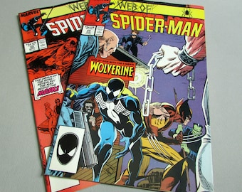 Set of 2, Vintage Web of Spider Man Comic Books Issue Nos. 29 and 30 August and September 1987, Marvel Comics
