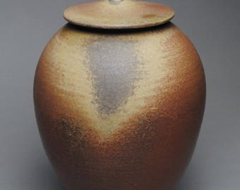Clay Covered Jar Wood Fired G60