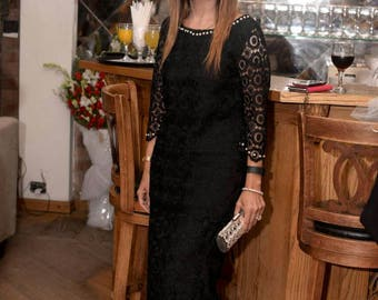 White Lace dress, black lace dress, women clothing, pakistani fashion, indian clothes, bengali dress