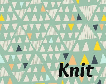 KNIT Mojave in Aloe - Leah Duncan for Art Gallery Fabrics - Triangle Arrow Geometric Knit Fabric