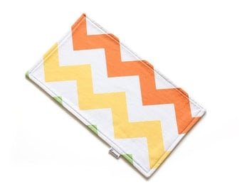 SALE || Burp Cloth || Large Zig Zag Yellow and Orange || Fleece Backing