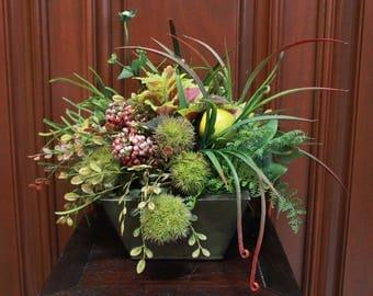 Artificial Arrangement - Succulents and Fruit (S17-62)