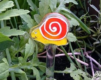 Fused Glass Snail Garden, Garden Decoration