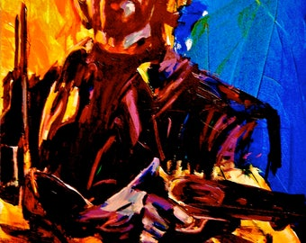 "Clint Eastwood 12""x18"" Western Portrait Giclee Poster Artist Print Wall Art Colorful Abstract Pop Art"