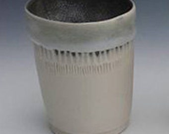 Juice Cup, White & Charcoal small cup, porcelain wine cup