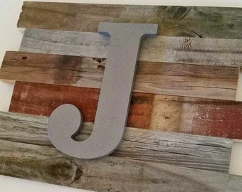 Rustic Nursery Decor Large Letters Baby Boy Nursery Wall Art