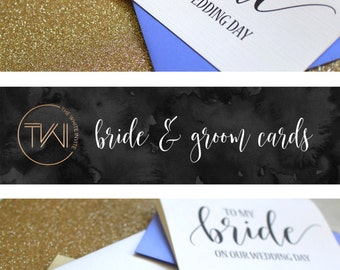 To My Groom on Our Wedding Day Card - Groom Card - Groom Gift - Gift from Bride BC217