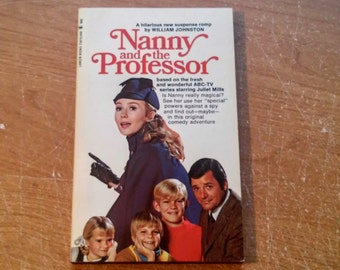 """Vintage 70's Pop Culture Paperback, """"Nanny and the Professor"""" by William Johnston. Based on the ABC-TV Series, 1970."""