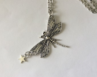 Dragonfly Necklace, Pendant, Nature, Woodland, Dragonfly jewelry, Antique Silver Dragonfly, Canada jewelry, Gift for Her