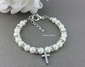 Goddaughter Gift Baptism Gift Baptism Bracelet Frist Communion Gift Cross Charm Bracelet Goddaughter Bracelet Godmother Bracelet