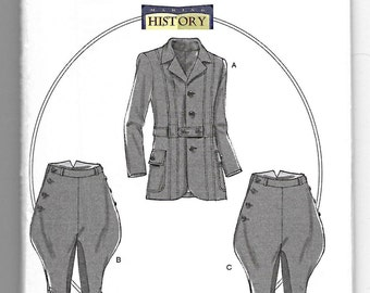 B6340 Butterick Men's Jacket, Breeches, and Jodhpurs Sewing Pattern Sizes S-M-L (34-44)