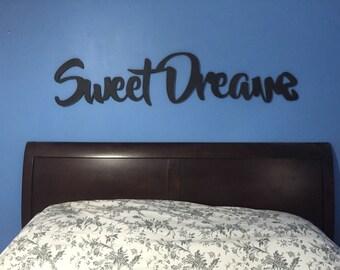 Queen Headboard King Headboard Twin Headboard Cutout  Bedroom Decor  11 x 60 Can Customize Personalize Cutout Sign