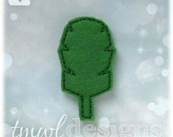"""Fantasy Tournament Leaf Badge Feltie Digital Design File - 1.75"""""""