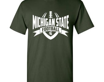 Michigan State Spartans Football Rush T-Shirt - Forest Green