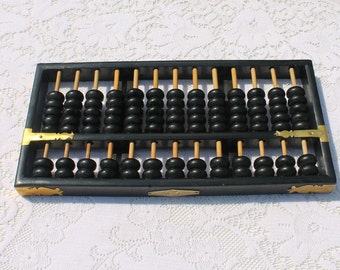 Vintage Large Oriental / Asian Abacus by Flying Eagle - Original Calculator.