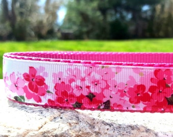 Cherry Blossom Dog Collar