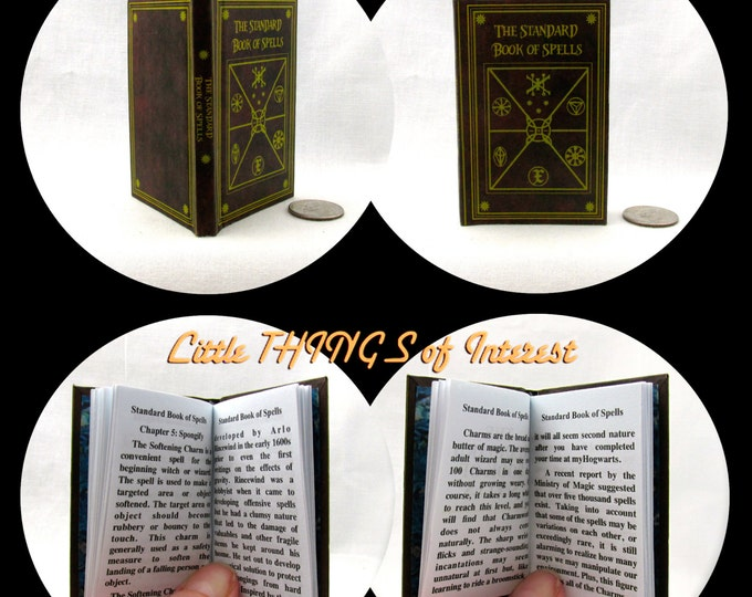STANDARD BOOK of SPELLS in 1:3 Scale Readable Book Potter Wizardry Magic Textbook Harry Potter 18 inch Ag Doll 1/3 Scale