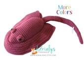 Crochet Stingray- Crochet Animals- Stingray Plush- Crochet Toy- Stuffed Stingray- Handmade Stingray- Crochet Toy- Made to Order
