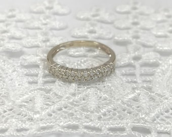 Estate Diamond Ladies Wedding Band - 14 karat white gold