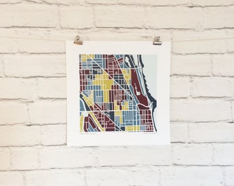 Lincoln Park Chicago Map Print