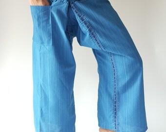 TC8006 Hand Sewing Inseam design for Thai Fisherman Pants Wide Leg pants, Wrap pants, Unisex pants