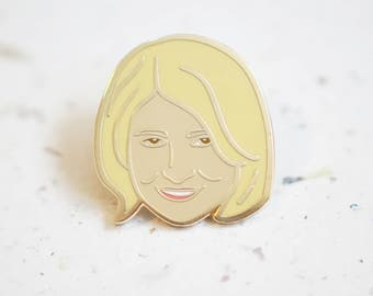 Martha Stewart  Enamel Pin // Hard Enamel - Enamel Pin - Pin - Lapel Pin - Flair - Brooch - Collar Pin - Hat Pin - By Justine Gilbuena