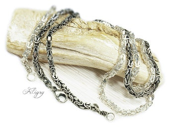 Rustic 925 silver Kings Chain 3,1mm