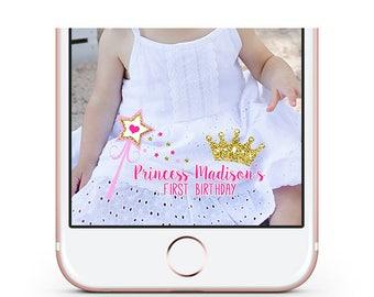 Princess Birthday Snapchat Geofilter, Custom Snapchat Filter, Geofilter, Princess Snapchat Filter, Princess Snap chat Filter,