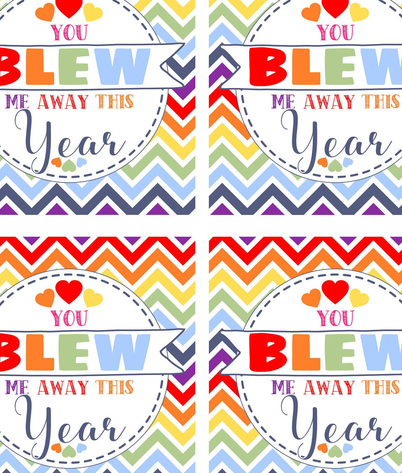 It's just a picture of Satisfactory You Blew Me Away This Year Free Printable