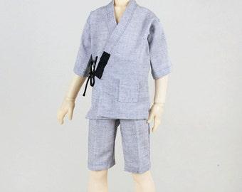 MSD Boy Grey Summer Kimono/ Yukata Pyjamas