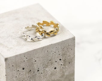 Sterling Silver Branch Ring • 24k Gold Branch Ring • Silver Leaf Ring • Olive Branch Ring • Bridesmaids Ring • Leaf Jewelry • Gift For Her