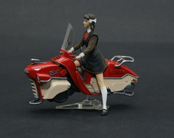 Soviet Girl on the HoverBike DieselPunk resin figure