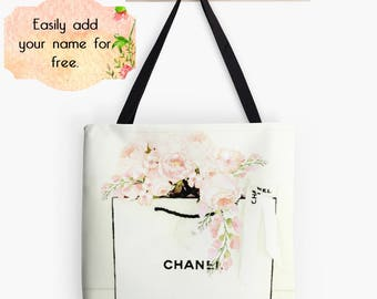 Chanel Shopping Tote Bag:  Chanel Paris Store, Coco Chanel, Chanel Purse, Chanel Bag, Fashion Blog, Blush Pink Ivory, Custom Drawstring Bag