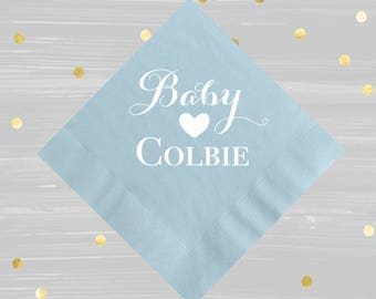 Baby Boy Napkins, Baby Boy Shower, Baby Shower Decor, Baby Shower Napkins,  Blue Shower Napkins, Itu0027s A Boy Napkins, Beverage Napkins