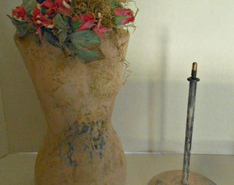 Hand Made Paper Mache Table Top Dress Form
