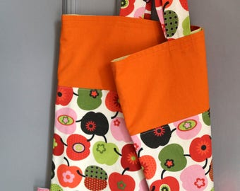 Apples orange shopping bag