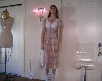 70's Floral Albert Nipon Dress sz Sm
