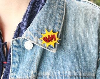 Bam Comic Book Pin