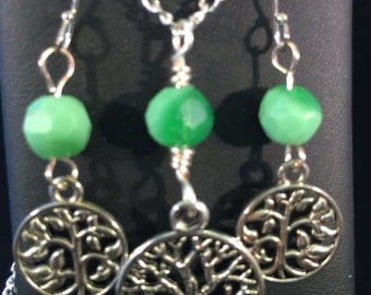 Necklace and Earring Set - Tree of Life Necklace and Earring Set - FREE SHIPPING