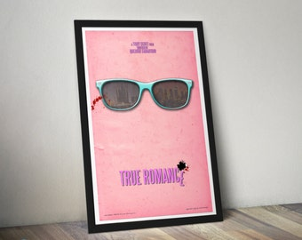 True Romance - 12x18 inch Movie Poster - Alternative Minimalist Fan Art