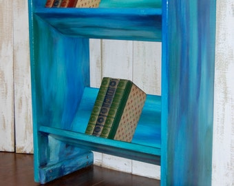 Small Blue Bookcase