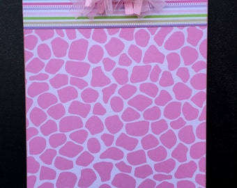 Pink Animal Print Clipboard